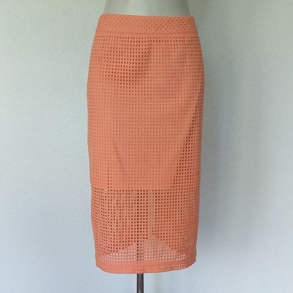 Trina Turk Dresses & Skirts - Trina Turk Grid eyelet pencil skirt